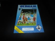 Oldham Athletic v Blackburn Rovers, 1984/85